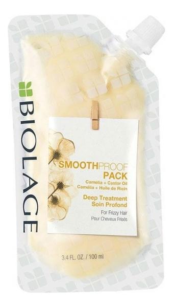 Фото - Маска-концентрат для непослушных волос с экстрактом камелии Biolage Smoothproof Mask 100мл несмываемая сыворотка для гладкости волос с термозащитой biolage smoothproof serum 89мл