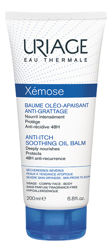 Липидовосстанавливайщий бальзам для тела Xemose Baume Oleo Apaisant Anti-Grattage: Бальзам 200мл крем для тела uriage xemose