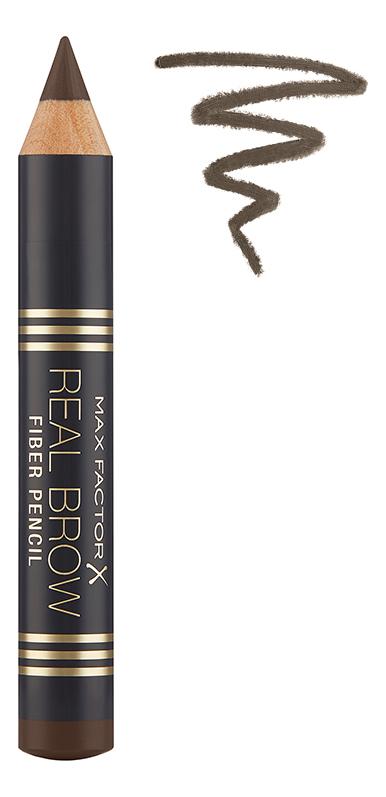 Купить Карандаш для бровей Real Brow Fiber Pencil 3, 8г: 004 Deep brown, Max Factor