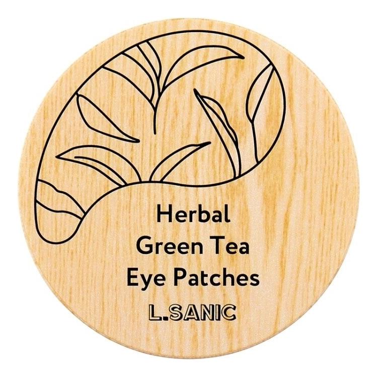 Гидрогелевые патчи для области вокруг глаз Herbal Green Tea Hydrogel Eye Patches 60шт l sanic патчи herbal centella asiatica hydrogel eye patches гидрогелевые с экстрактом центеллы 60 шт