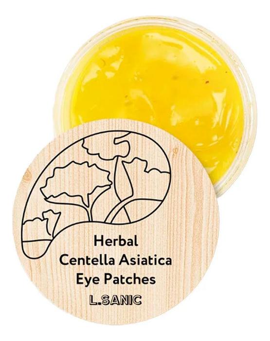 Гидрогелевые патчи для области вокруг глаз Herbal Centella Asiatica Hydrogel Eye Patches: Патчи 60шт l sanic патчи herbal centella asiatica hydrogel eye patches гидрогелевые с экстрактом центеллы 60 шт