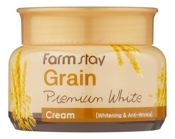 Осветляющий крем для лица с маслом ростков пшеницы Grain Premium White Cream 100г