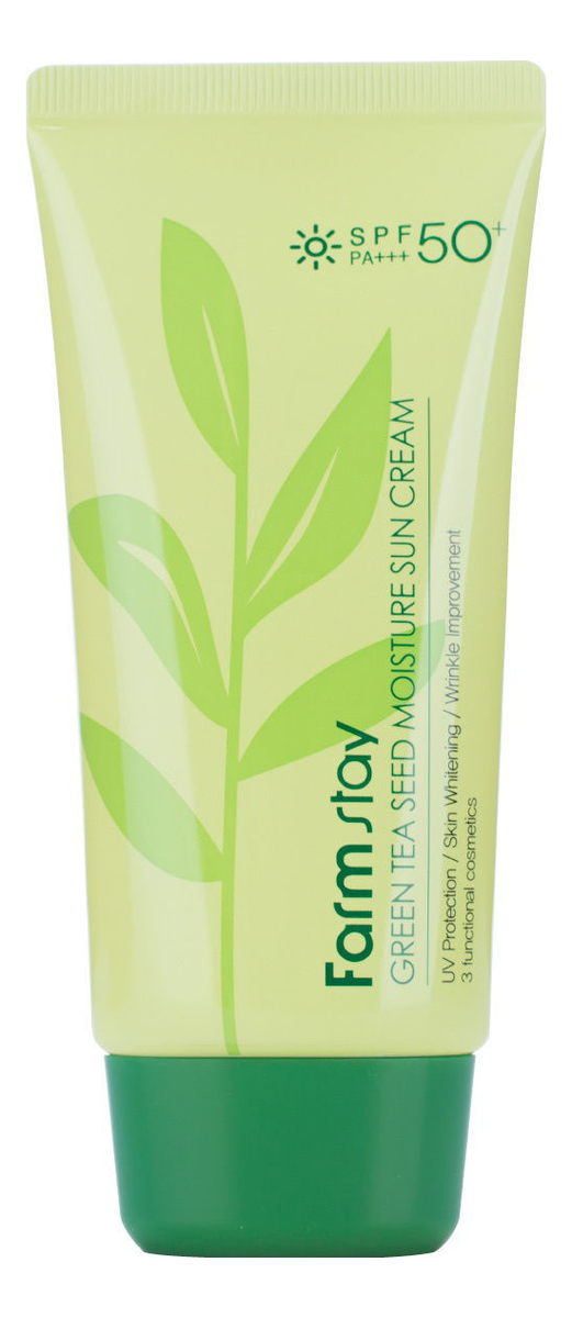 Крем для лица с экстрактом зеленого чая Green Tea Seed Moisture Sun Cream 70мл chi luxury black seed oil curl defining cream gel