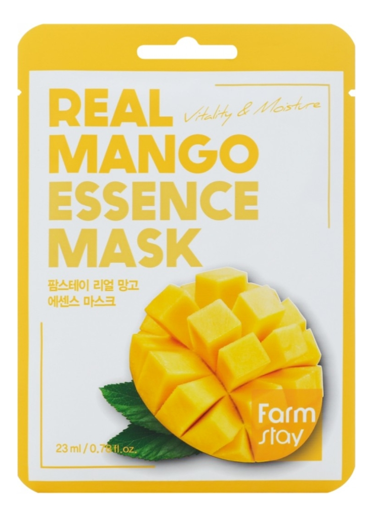 Фото - Тканевая маска для лица с экстрактом манго Real Mango Essence Mask 23мл: Маска 1шт a pieu тканевая маска real big yogurt one bottle mango с экстрактом манго 21 г