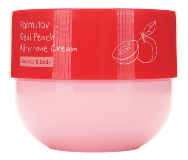 Многофункциональный крем для лица и тела с экстрактом персика Real Peach All-In-One Cream 300мл