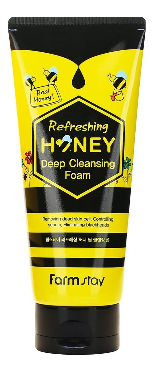 Купить Пенка для умывания с экстрактом меда Refreshing Honey Deep Cleansing Foam 180мл, Farm Stay