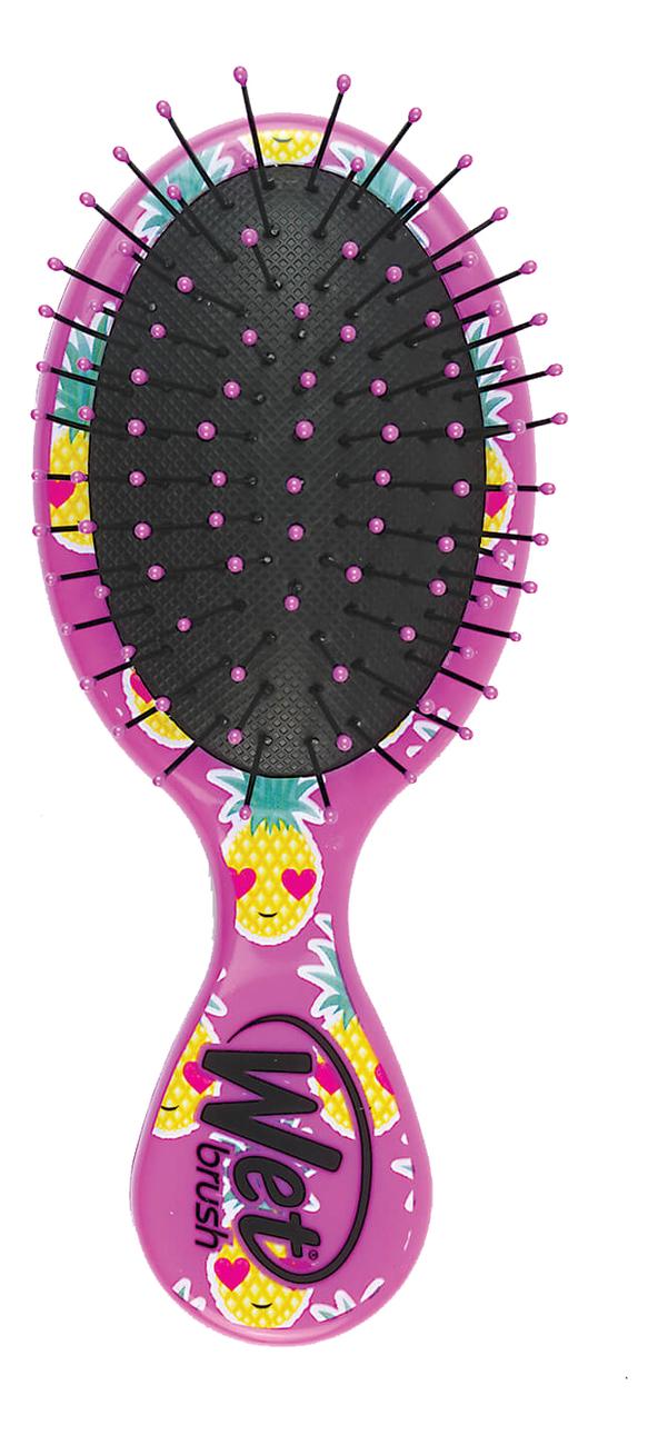 Купить Щетка для спутанных волос Mini Detangler Brush Happy Hair Smiley Pineapple (веселый ананас), Wet Brush