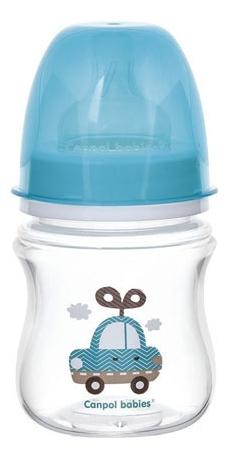 Бутылочка с широким горлышком антиколиковая PP EasyStart 0+ Toys 120мл (в ассортименте) фото