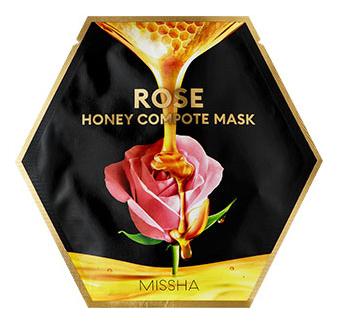 Тканевая маска для лица Rose Honey Compote Mask: Маска 27г missha тканевая маска для лица healing snail 3d 21 г
