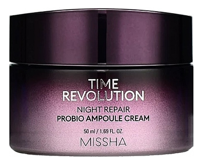 Восстанавливающий ночной крем для лица Time Revolution Night Repair Probio Ampoule Cream 50мл: Крем 50мл гель крем для лица alpha homme genwood hydro 50мл