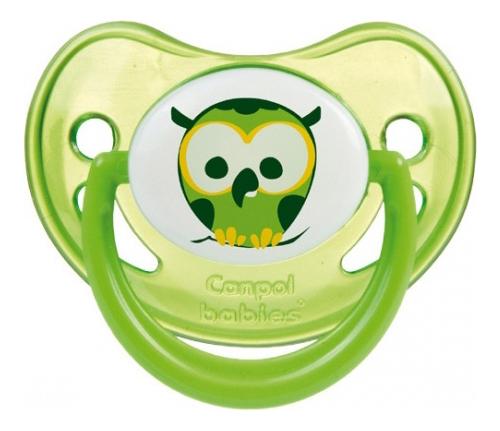 Купить Пустышка анатомическая силиконовая Night Dreams (0-6 мес, в ассортименте), Canpol Babies