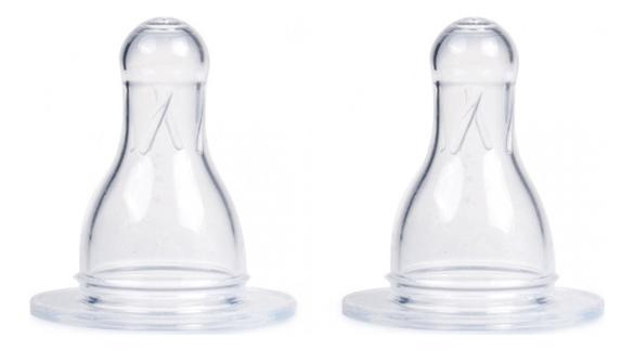 цена на Соска для бутылочки универсальная антиколиковая силикон (2 шт, переменный поток): Переменный поток 2шт
