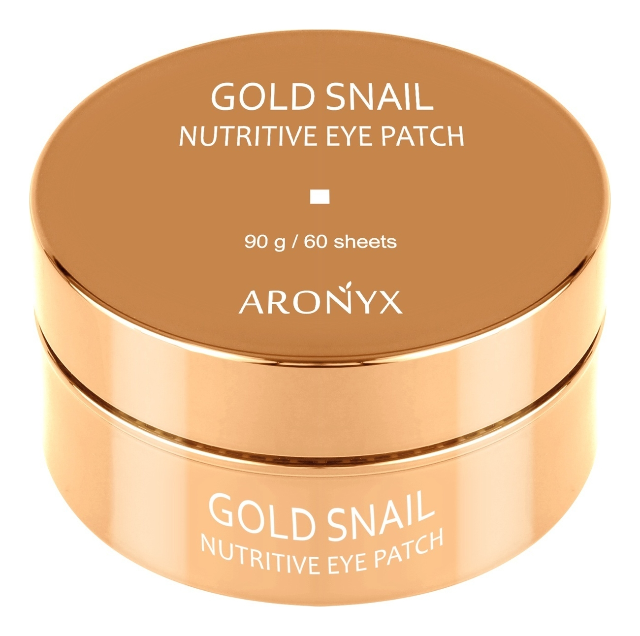 Гидрогелевые патчи для кожи вокруг глаз с муцином улитки и золотом Aronyx Gold Snail Nutritive Eye Patch 60шт