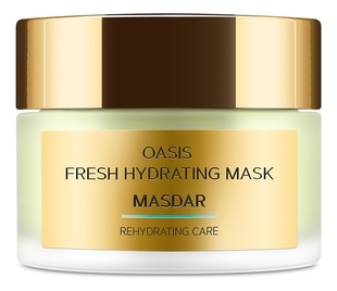 Маска для лица с гиалуроновой кислотой и огуречным соком Masdar Oasis Fresh Hydrating Mask 50мл