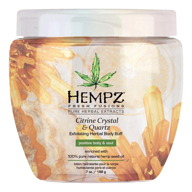 Скраб для тела с мерцающим эффектом Желтый кварц Citrine Crystal & Quartz Herbal Body Buff 198г