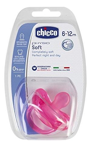 Пустышка силиконовая Physio Soft 6-12мес (розовая)