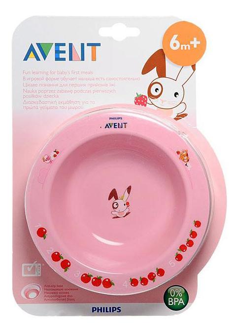 Тарелка глубокая Avent 230мл (6+мес, в ассортименте) avent philips глубокая тарелка 230 мл 6 мес голубая и розовая