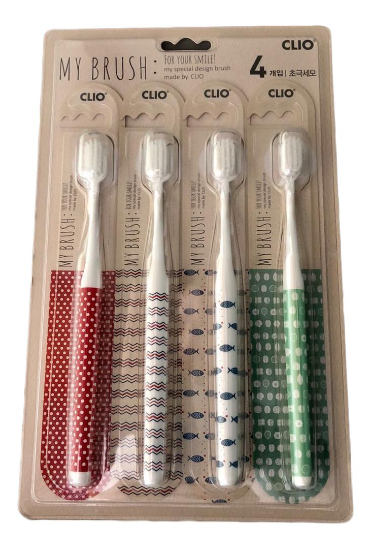 Зубная щетка My Brush Toothbrush For Your Smile 4шт зубная щетка my brilliant smile бамбуковая розовый