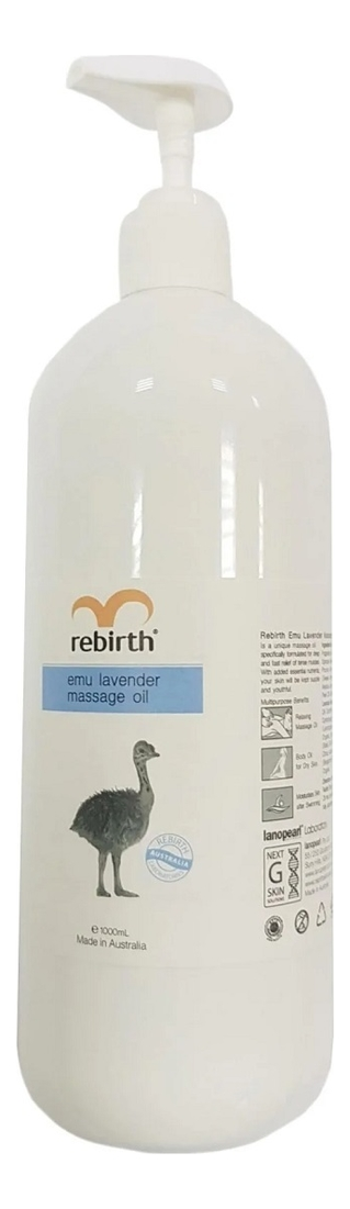 Купить Масло для массажа с маслом Эму и лавандой Emu Lavender Massage Oil 125мл, Rebirth