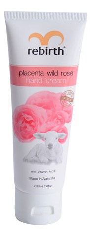 Крем для рук с экстрактом плаценты и маслом розы Placenta Wild Rose Hand Cream 75мл фото