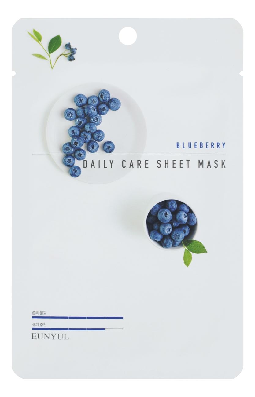 Тканевая маска для лица с экстрактом черники Blueberry Daily Care Sheet Mask 22г: Маска 1шт тканевая маска для лица с экстрактом черники purity blueberry sheet mask 22мл маска 1шт