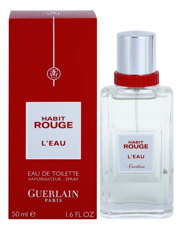 Guerlain Habit Rouge L'Eau: туалетная вода 50мл guerlain homme туалетная вода 50мл