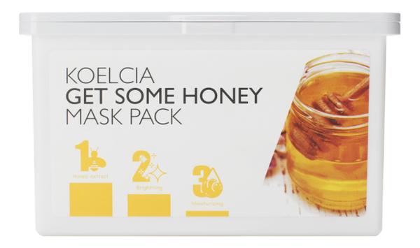 Тканевая маска для лица с экстрактом меда Get Some Honey Mask Pack 30шт маска из меда для лица