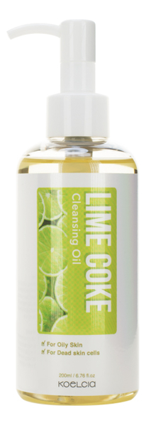 Гидрофильное масло для снятия макияжа с экстрактом лайма Lime Coke Cleansing Oil 200мл: Масло 200мл кодали масло для снятия макияжа
