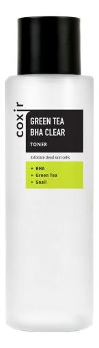 Купить Тонер для лица с экстрактом зеленого чая Green Tea BHA Clear Toner 150мл, Coxir
