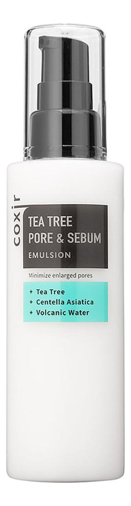 Купить Эмульсия для лица с экстрактом чайного дерева Tea Tree Pore & Sebum Emulsion 100мл, Эмульсия для лица с экстрактом чайного дерева Tea Tree Pore & Sebum Emulsion 100мл, Coxir