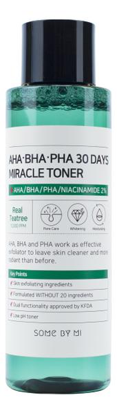 Тонер для проблемной кожи лица AHA-BHA-PHA 30 Days Miracle Toner 150мл