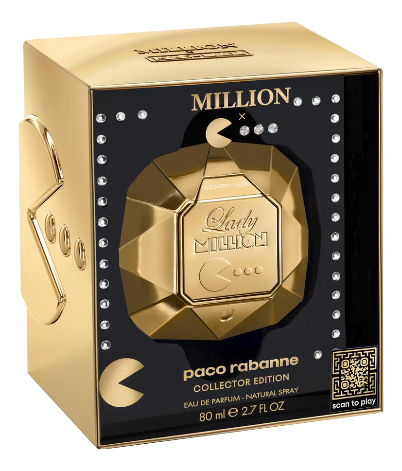 Paco Rabanne Lady Million X Pac-Man Collector Edition 2019: парфюмерная вода 80мл