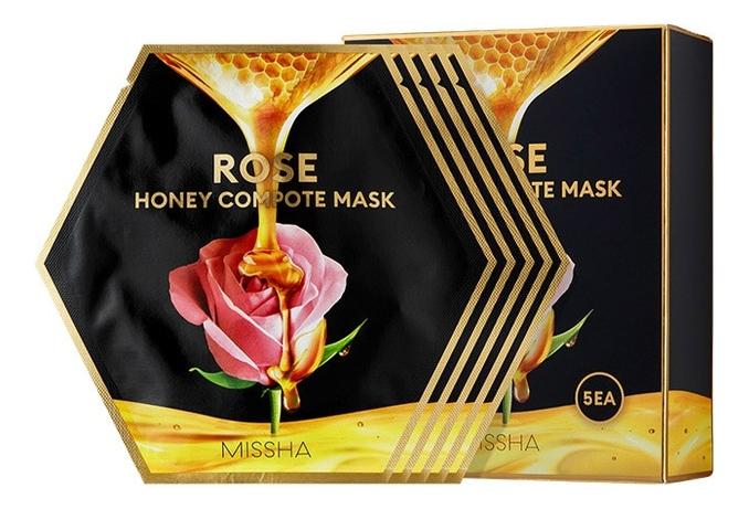 Тканевая маска для лица Rose Honey Compote Mask: Маска 5*27г