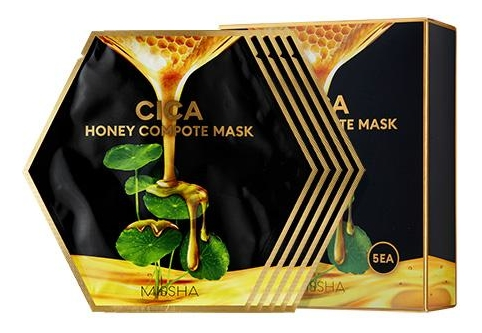 Купить Концентрированная тканевая маска для лица Cica Honey Compote Mask: Маска 5*27г, Missha