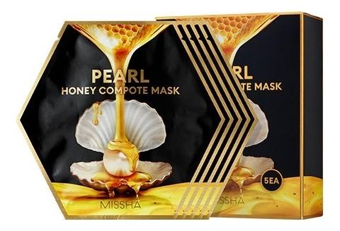 Концентрированная тканевая маска для лица Pearl Honey Compote Mask: Маска 5*27г missha тканевая маска для лица healing snail 3d 21 г