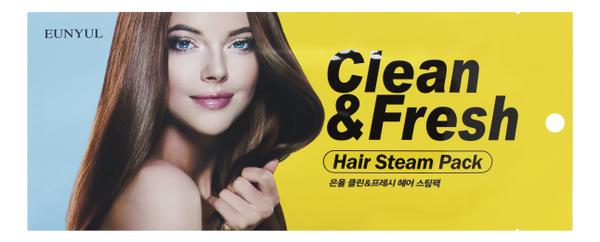 цена на Маска-шапочка для волос с маслом подсолнечника Clean & Fresh Hair Steam Pack 40г