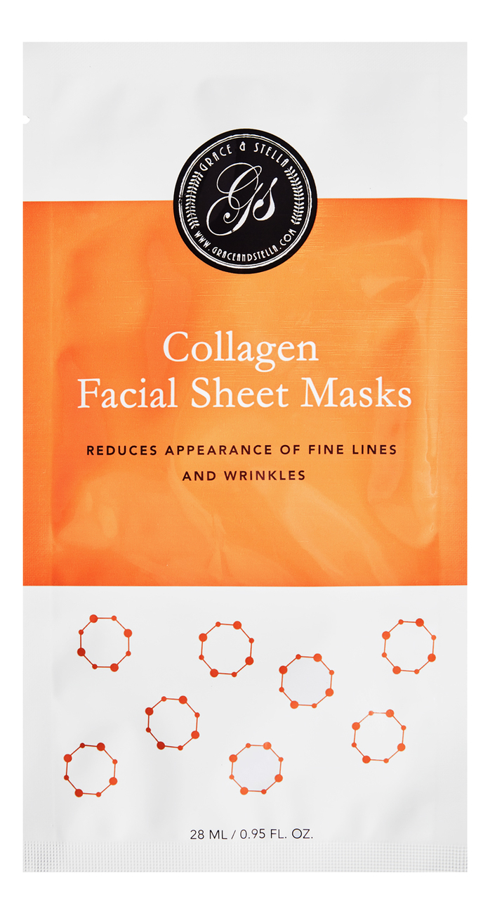 Тканевая маска для лица с коллагеном Collagen Facial Sheet Masks 6шт