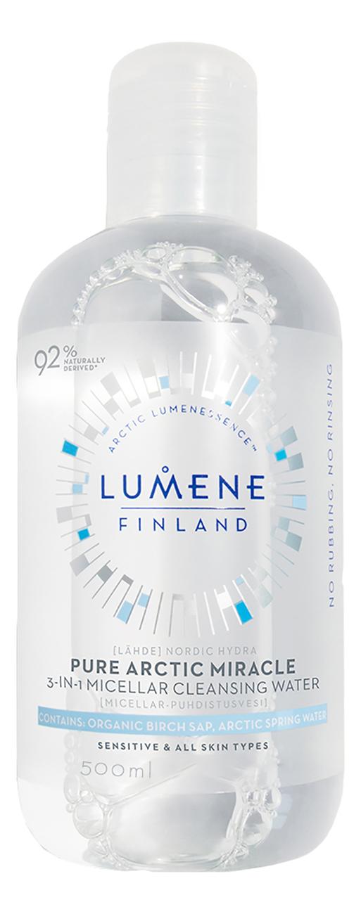 Мицеллярная вода 3 в 1 Nordic Hydra Pure Arctic Miracle: Мицеллярная вода 500мл biotherm biosource мицеллярная вода