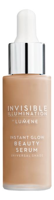 Ухаживающая сыворотка-флюид с тонирующим эффектом Invisible Illumination Instant Glow Beauty Serum 30мл: Универсальный средний lumene invisible illumination set