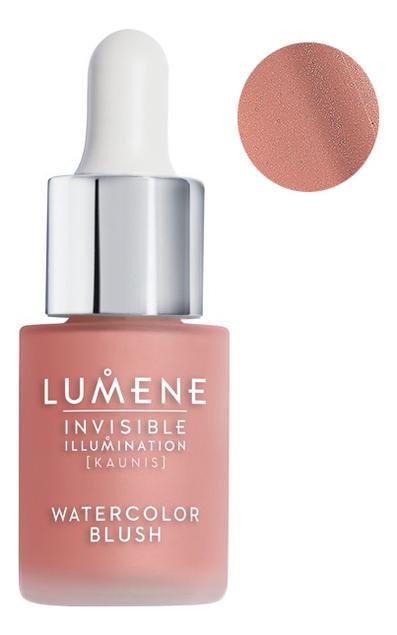 Ухаживающие румяна-флюид Invisible Illumination Watercolor Blush 15мл: Розовый лепесток lumene румяна natural glow 4 г lumene blush