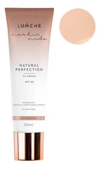 CC крем Естественное совершенство Nordic Luxe Nude Natural Perfection Cream 30мл: Светлый средний
