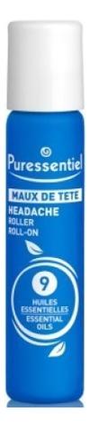 Роллер успокаивающий от головной боли 9 эфирных масел Maux De Tete Roller 5мл