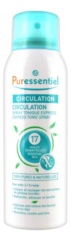 Купить Спрей для ног 17 эфирных масел Circulation Spray Tonique Express 100мл, Puressentiel
