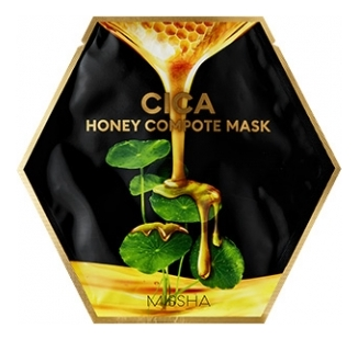 Концентрированная тканевая маска для лица Cica Honey Compote Mask: Маска 27г missha тканевая маска для лица healing snail 3d 21 г
