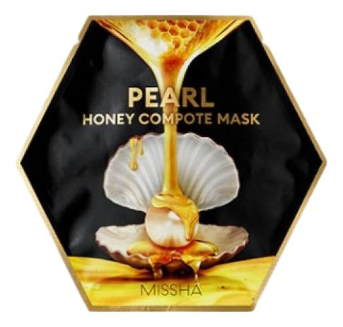 Концентрированная тканевая маска для лица Pearl Honey Compote Mask: Маска 27г missha тканевая маска для лица healing snail 3d 21 г