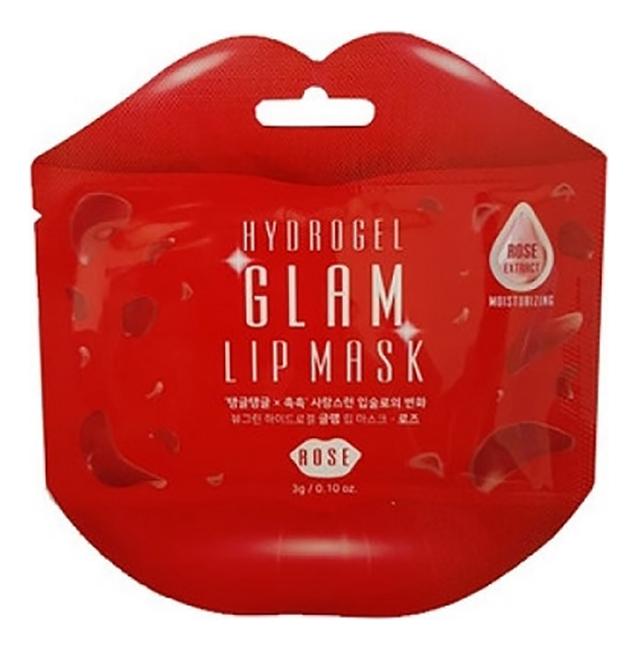 Гидрогелевые патчи для губ с розой Hydrogel Glam Lip Mask Rose: Патч 3г