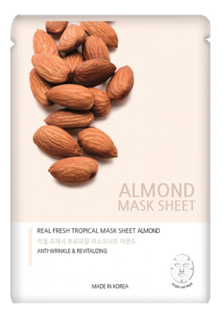 Тканевая маска с экстрактом миндаля Real Fresh Tropical Mask Pack Almond 25мл