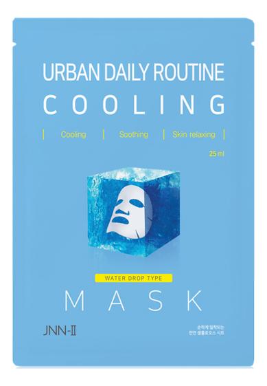 Тканевая маска для лица охлаждающая JNN-II Urban Daily Routine Cooling Mask 25мл маска гелевая для лица охлаждающая согревающая kz 0299