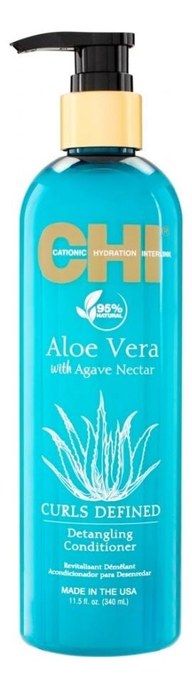 Кондиционер для облегчения расчесывания Aloe Vera With Agave Nectar Curls Defined Detangling Conditioner: Кондиционер 340мл korres conditioner aloe