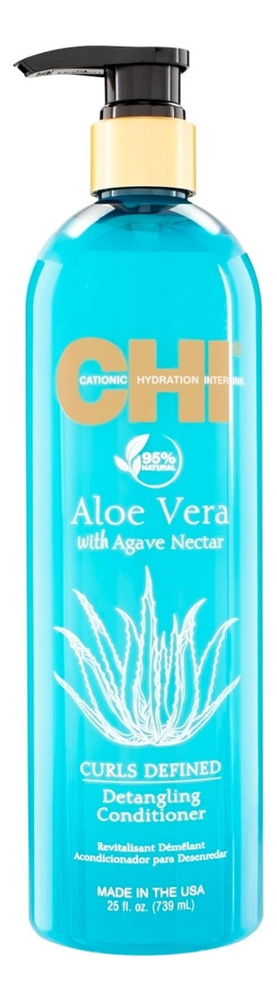 Кондиционер для облегчения расчесывания Aloe Vera With Agave Nectar Curls Defined Detangling Conditioner: Кондиционер 739мл korres conditioner aloe
